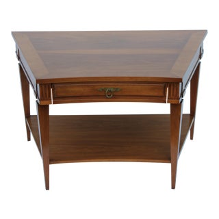 John Widdicomb Mid-Century Curved High End Walnut Accent Table