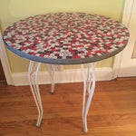 Image of Vintage 1950s Mosaic Tile Top Small Dining Table