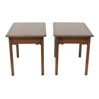 Kittinger Mahogany Side Tables - A Pair