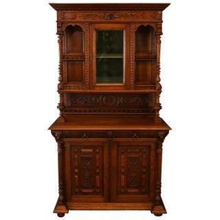 1900 Flemish Renaissance Carved Oak Buffet