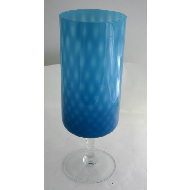 Mid-Century Blue Glass Vases - Set of 3 - Image 4 of 4