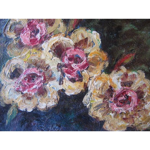 Vivid Vintage Flower Paintings- A Pair - Image 3 of 8
