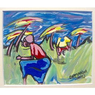 "James Chamunorwa ""African Expressionism"" Painting"