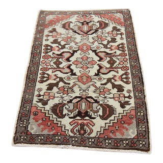 "Vintage Antique Tribal Oushak Hand Knotted Turkish Rug - 1'8"" X 2'9"""