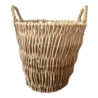 Large Vintage Bamboo Basket