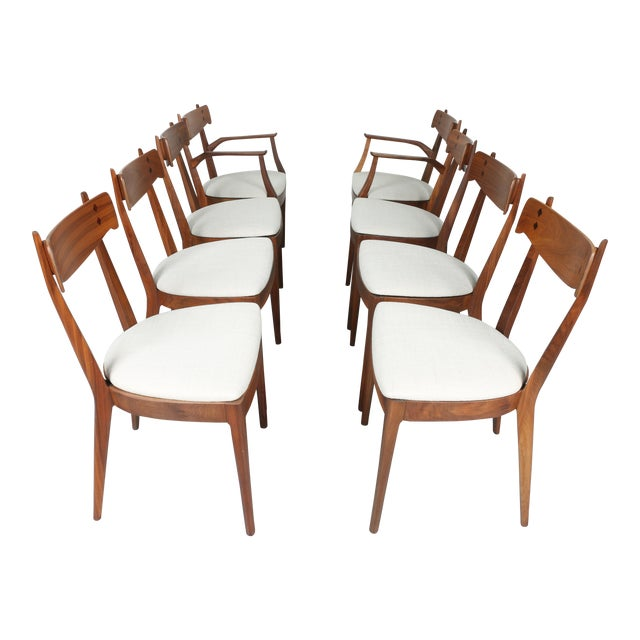 Kipp Stewart for Drexel set of 8 Dining Chairs - Image 1 of 11