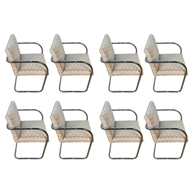 Eight Mid-Century Brono Tubular Chairs, Designed by Ludwig Mies van der Rohe - Image 1 of 6