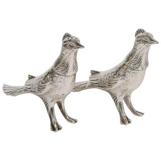 Silverplate Partrid Salt and Pepper Shakers