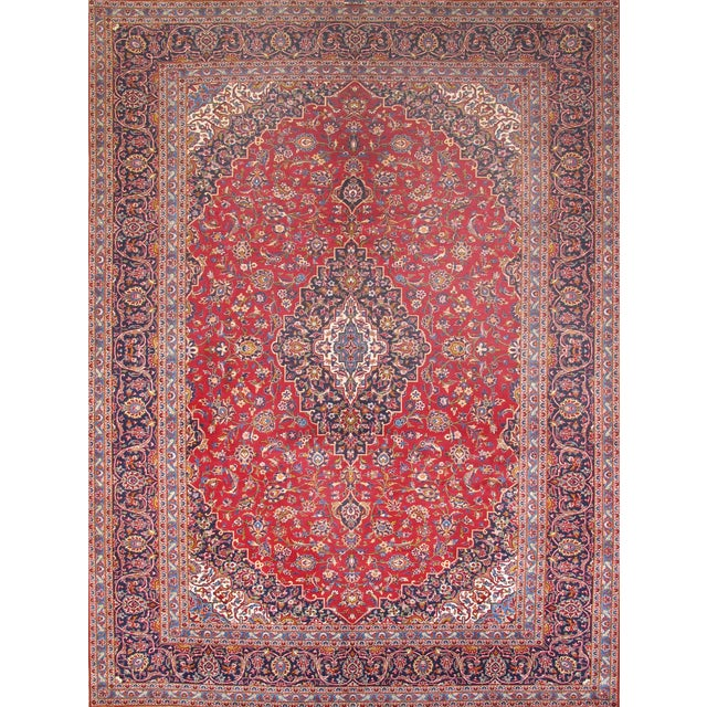 "Pasargad Kashan Collection Rug - 9'10"" X 13'1"" - Image 1 of 2"