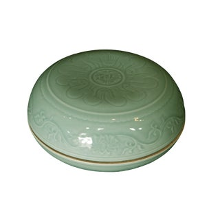 Hand Carved Celadon Box
