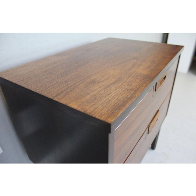 Image of 1960's American Walnut Nightstands - A Pair