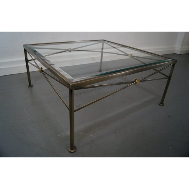 Design Institute of America Steel Coffee Table - Image 8 of 10