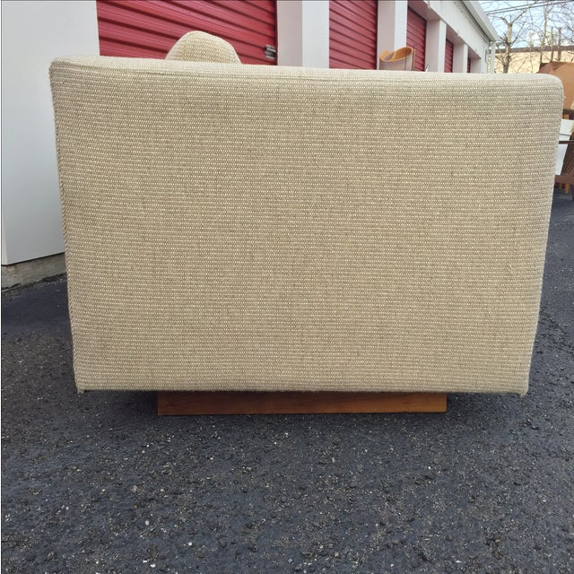 Image of Mid Century Cream Sofa on Wood by Gunlocke Company