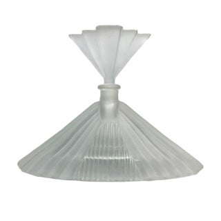 Art Deco Style Frosted Glass Perfume Bottle