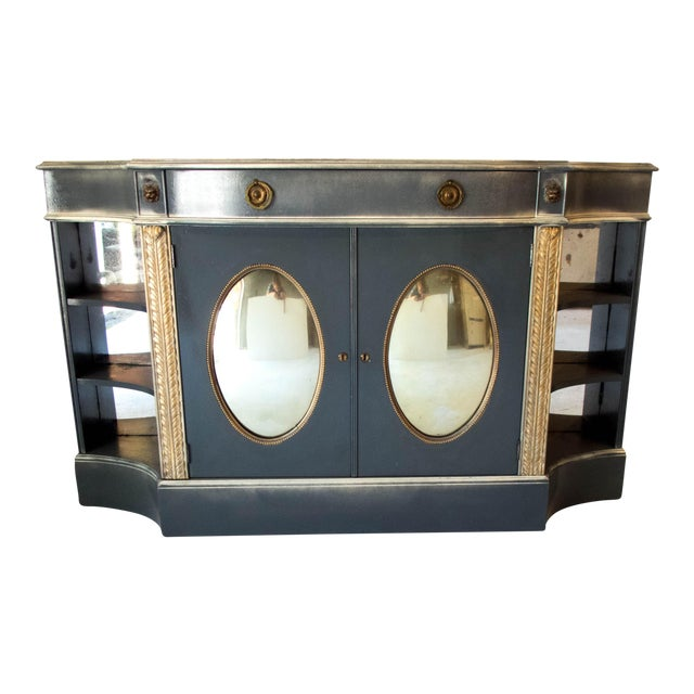 Antique Mirrored Bar Cabinet / Hall Table - Image 1 of 9