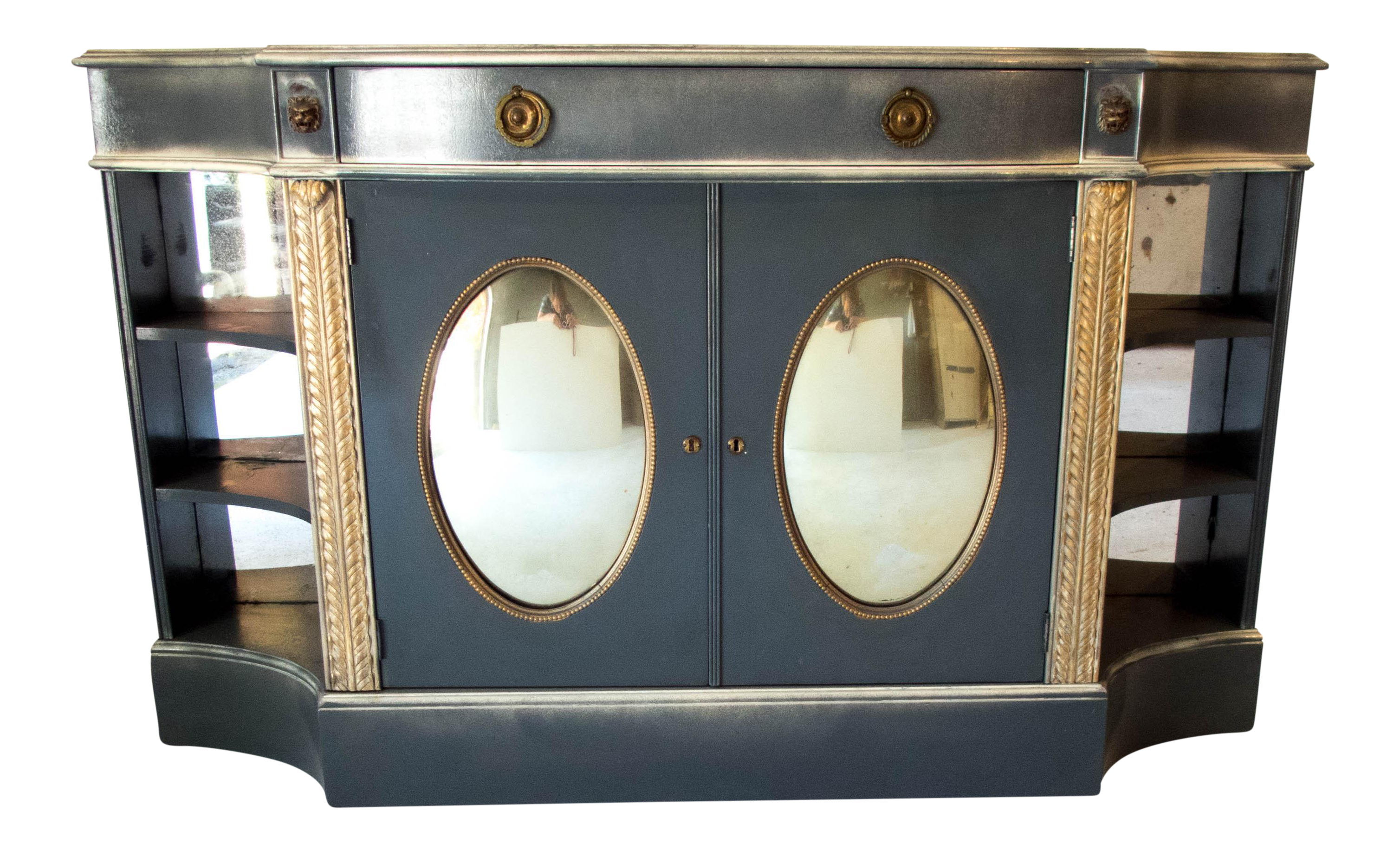Antique Mirrored Bar Cabinet / Hall Table