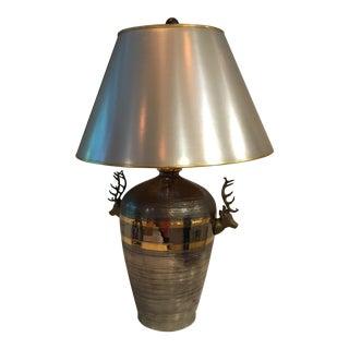 Vintage Chapman Deer Head Table Lamp