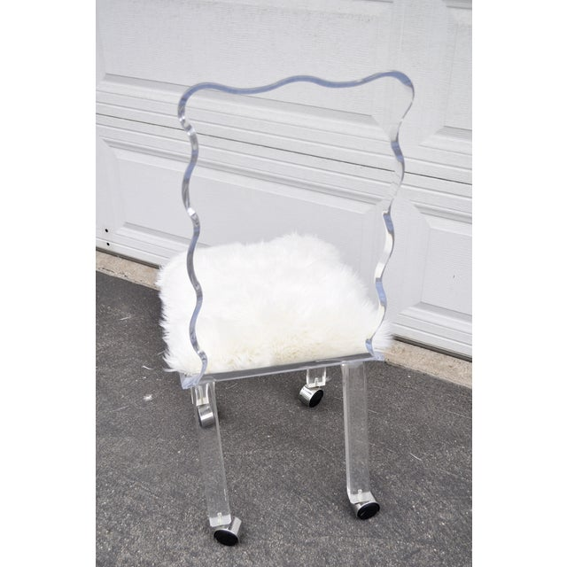 Mod Lucite Dining Chairs - Set of 6 - Image 6 of 8