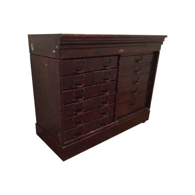 Multi-Drawer Antique Optical Cabinet - Image 1 of 7
