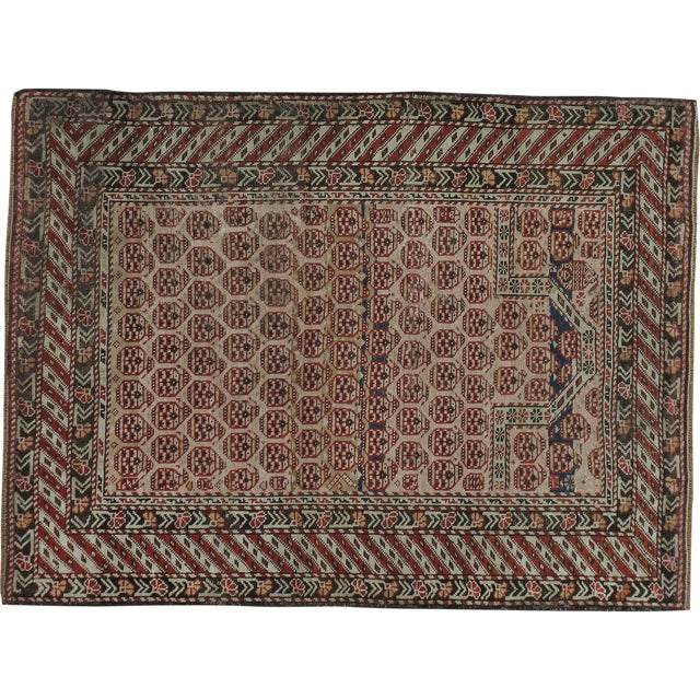 "Image of Caucasian Kazak Antique Rug - 3'5"" X 4'7"""