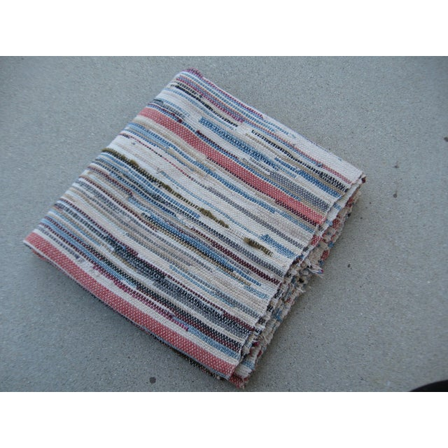 Americana Rag Rug Runner - 2′8″ × 10′4″ - Image 8 of 8