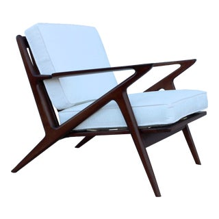 Vintage 1950s Poul Jensen Danish Z Chair