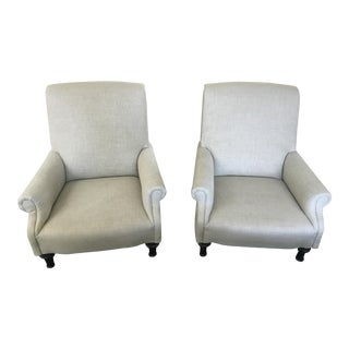 Restoration Hardware English Club Chairs - A Pair