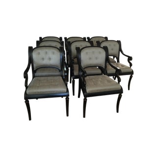 Black Regency Dining Chairs - Set of 8