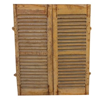Wood Plantation Shutters - Pair