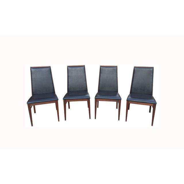Milo Baughman Mid-Century Walnut Chairs - Set of 4 - Image 3 of 7