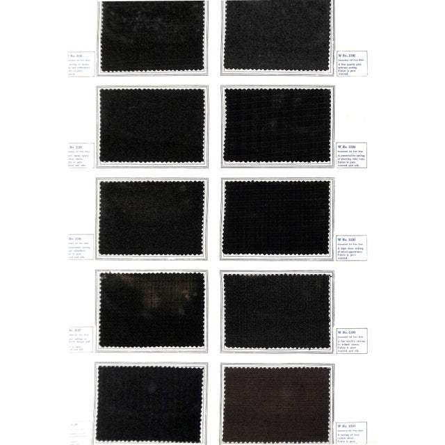Image of Vintage Formal Wear Fabric Swatches from 1915
