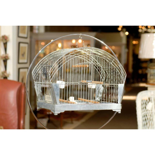 Hendryx American Art Deco Bird Cage on Stand - Image 3 of 5