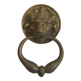 Antique Lion Head Door Knocker