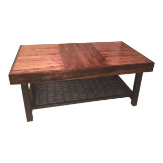 Repurposed Bowling Alley Lane Industrial Coffee Table