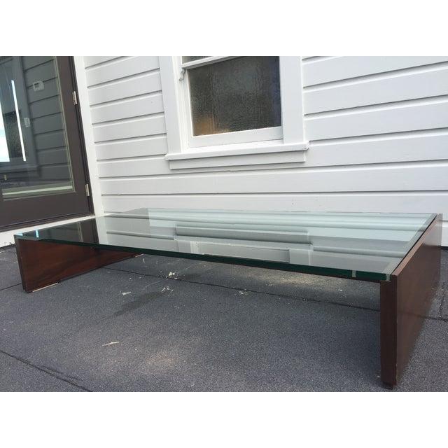 Mahogany & Glass Coffee Table - Image 2 of 6