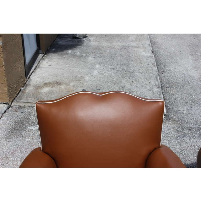 French Art Deco Vinyl Club Chairs - A Pair - Image 3 of 7