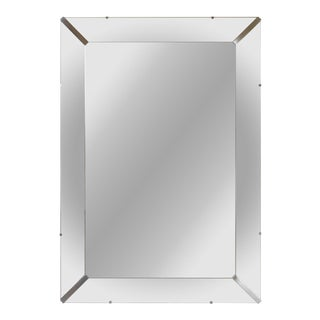 Nickel Accent Beveled Mirror
