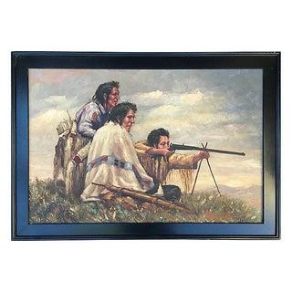 Southwestern Hunt Scene Painting