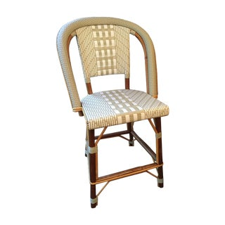 TK Collection Rattan Counter Stool