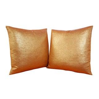 """Custom 20"""" x 20"""" Orange & Gold Pillows - A Pair"""