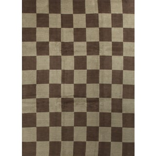 Modern Contemporary Hand Knotted Wool Rug - 8′7″ × 11′9″