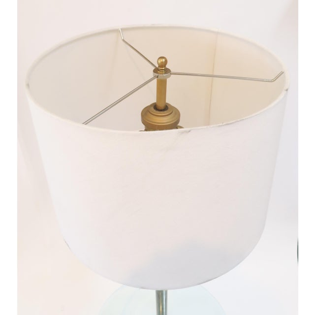 Brass Floor Lamp With Glass Table - Image 6 of 7