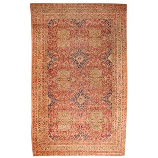 Antique 19th Century Oversize Persian Lavar Carpet