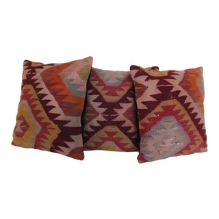 Turkish Kilim Rug Pillows - Set of 3