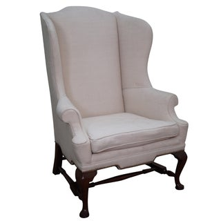 Biggs Kittinger Mahogany Queen Anne Wing Chair