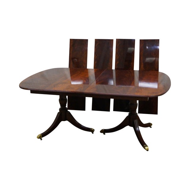 Kindel Flame Mahogany Duncan Phyfe Dining Table - Image 1 of 9