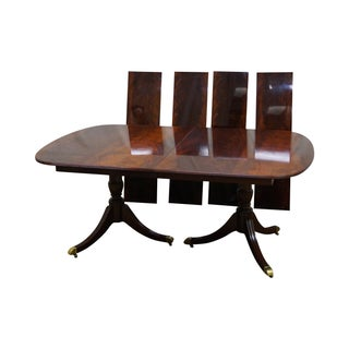 Kindel Flame Mahogany Duncan Phyfe Dining Table