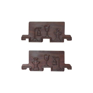 Chinese Rosewood Carvings - Pair