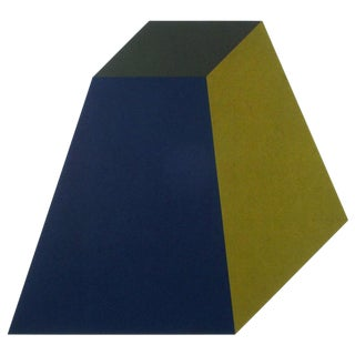 "Sol LeWitt ""Forms Derived from a Cube ( Colors Superimposed )"" Plate #4"