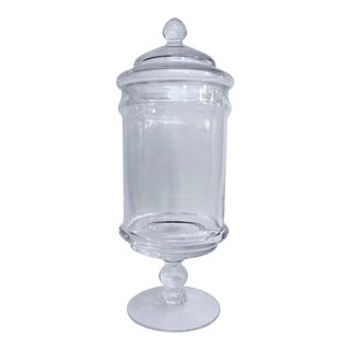 Glass Apothecary Jar With Lid
